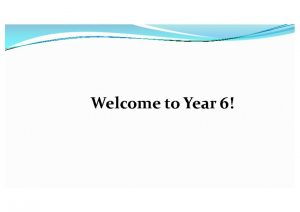 thumbnail of Welcome Pack Year 6