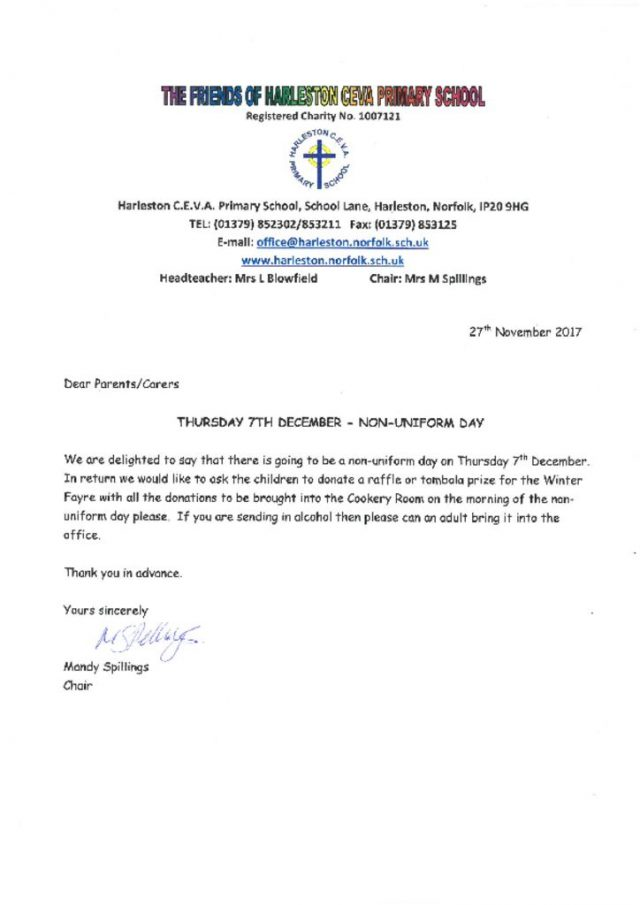 thumbnail of Non-uniform Day Letter dated 27.11.17